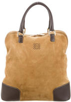 Loewe Leather-Accented Amazona Suede Tote