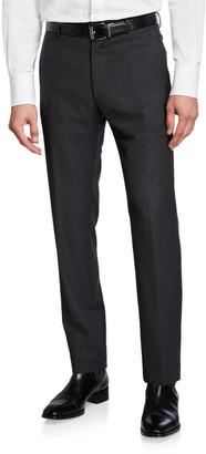Zanella Men's Wool Houndstooth Dress Trousers