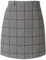 Carven check mini skirt