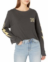 RVCA Junior's Voltage Long Sleeve Crew Neck T-Shirt