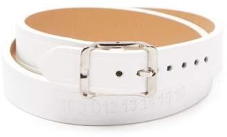 Maison Margiela Wrap-around Leather Bracelet - Mens - Black Silver