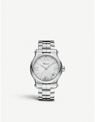 Chopard Happy Sport 36mm Quartz stainless steel and diamond watch