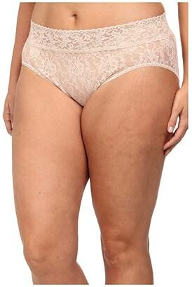 Hanky Panky Plus Size Signature Lace French Brief (Black) Women's Underwear