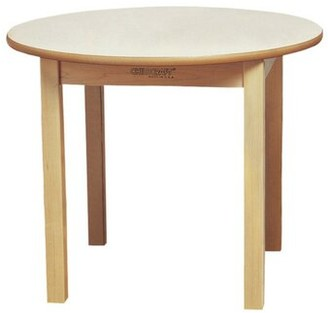 "Child Craft Wood Round Kids Writing Table Childcraft Size: 26"" H x 30"" L x 30"" W"