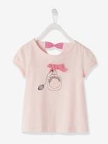 Vertbaudet Girls Bow Applique T-Shirt