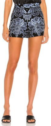 Alice + Olivia Hera High Waist Seamed Back Zip Short