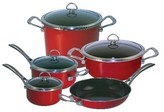 Chantal Copper Fusion 9 Piece Cookware Set