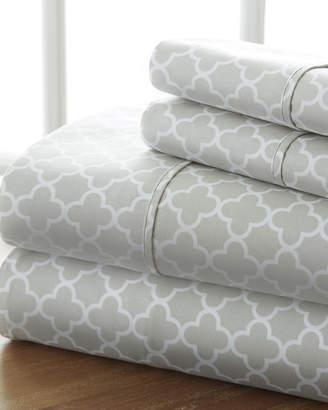 IENJOY HOME Puffed Chevron 4-Piece Bed Sheet Set, Queen