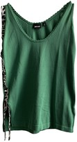 Just Cavalli Green Cotton Top for Women