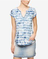 Sanctuary City Cotton Split-Neck T-Shirt