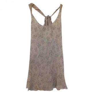 Topshop Tophop Beige Silk Dress for Women