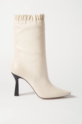 Wandler Lina Leather Ankle Boots - Cream