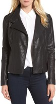 Petite Women's Halogen Leather Jacket