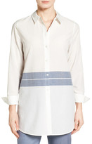 Nordstrom Placed Stripe Tunic Shirt