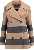 Rag & Bone Skye Striped Wool-Blend Felt Coat