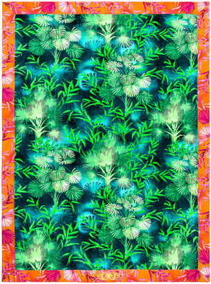 Versace Jungle Beach Towel in Green Print   FWRD