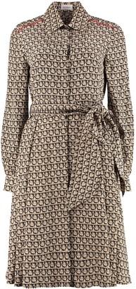 Salvatore Ferragamo Silk Shirt Dress