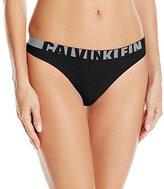 Calvin Klein Women's Logo Cotton Thong Panty