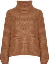 Michelle Mason Layered ribbed-knit turtleneck sweater