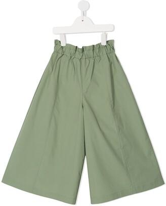 Familiar Casual Flared Trousers