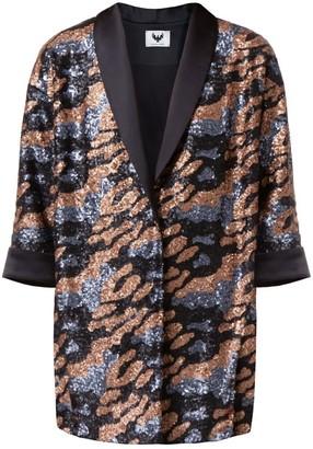 Diana Arno Julie Sequin Jacket In Grey And Bronze