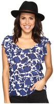 Lucky Brand Floral Flutter Top Women's Clothing