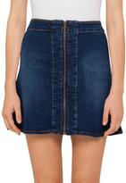 R & E RE: Zip Skirt Dk Blue