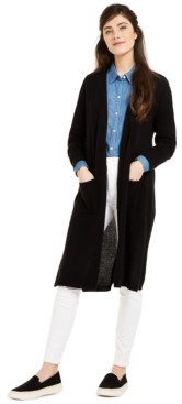 Charter Club Cashmere Maxi Duster Cardigan