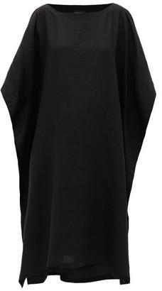 eskandar Oversized Linen-poplin Dress - Black