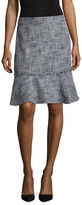 Karl Lagerfeld Women's Tweed Fringed Trim Skirt