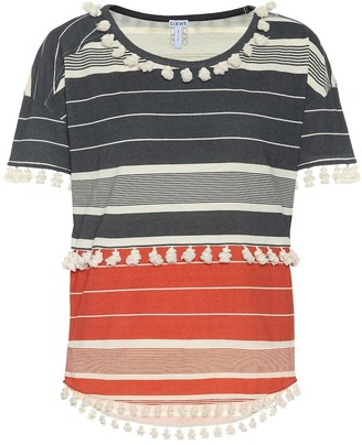 Loewe Striped cotton top