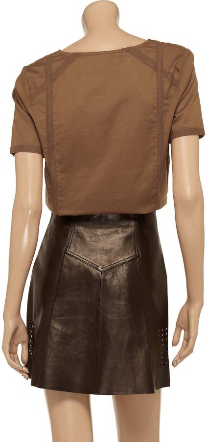 Vanessa Bruno Lace-trimmed cotton shirt