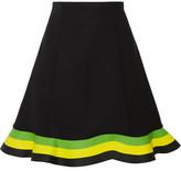 J.W.Anderson Orbit Striped Neoprene Mini Skirt