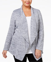 Style&Co. Style & Co. Plus Size Mélange Open-Front Cardigan, Only at Macy's