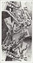 Barewalls House Of Stairs / House Of Stairs, Art Poster by M.C. Escher