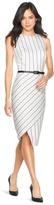 White House Black Market Striped Asymmetric Sheath Dress
