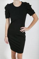 Puff Sleeve Dress - Black