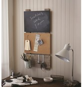 Nobrand No Brand Bulletin Board with Chalkboard and Hooks