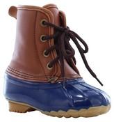 Western Chief Boy's Four Eye Duck Matte Rain Boots - Navy