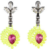 Mawi Neon Yellow Honeycomb Earrings