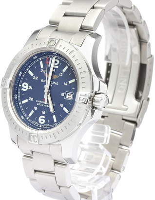Breitling Blue Stainless Steel Colt Quartz A74388 Men's Wristwatch 44 MM