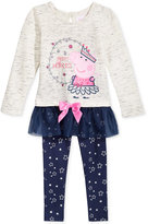 Nickelodeon Nickelodeon's Peppa Pig 2-Pc. Shirt and Leggings Set, Toddler and Little Girls (2T-6X)