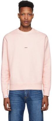 MSGM Pink Fleece Logo Sweatshirt