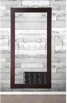 32 in. x 71 in. Modern Rustic Walnut Framed Mirror