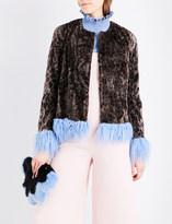 Shrimps Tucker leopard-print faux-fur coat