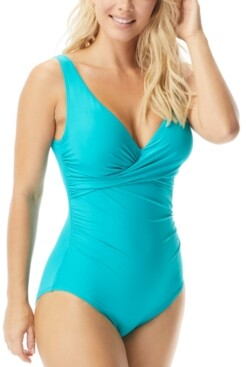 CoCo Reef Pavilion Draped V-Neck Underwire One-Piece Swimsuit Women's Swimsuit