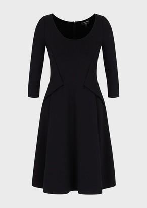 Emporio Armani Dress In Stretch Milano Stitch Fabric