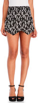 Necessary Objects Printed Faux Wrap Woven Skort