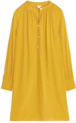 Arket Long-Sleeve Crepe Dress