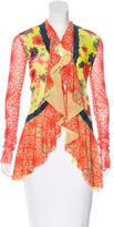 Jean Paul Gaultier Printed Mesh Cardigan
